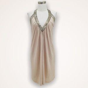 BCBGMAXAZRIA Beige/Nude Cocktail Dress